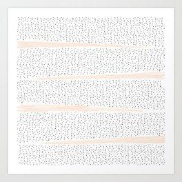 Pink Dalmation Polka Dot Stripes Art Print