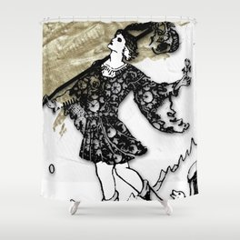 Glamour Tarot The Fool Shower Curtain