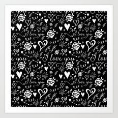 Black love Art Print