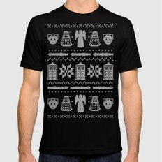 Who's Sweater MEDIUM Black Mens Fitted Tee