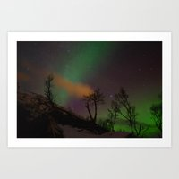 Norway lights 3 Art Print