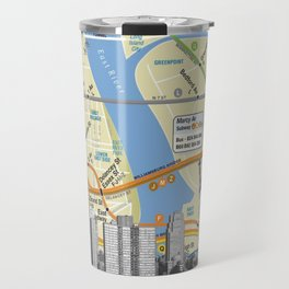 Nyc Subway Liberty Statue Travel Mug
