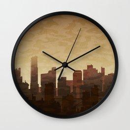 City skyscrapers Wall Clock
