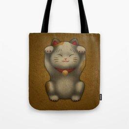 maneki-neko | Lucky Cat (White) Tote Bag