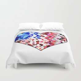 American Heart - Geometric Abstract Duvet Cover