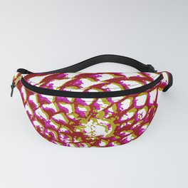 pine cone in olive green, purple and burgandy Fanny Pack