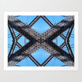 Bridging Lines Art Print