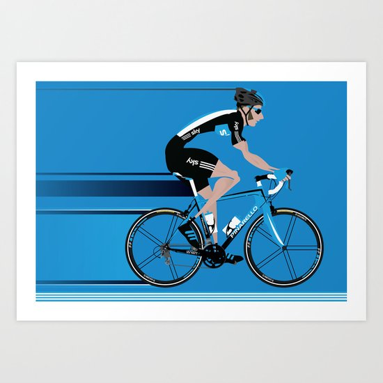 Bradley Wiggins Team Sky Art Print