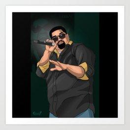 Heavy D & the Boyz - BLM - Hip Hop - Society6 - Dwight Arrington Myers - 1 Art Print