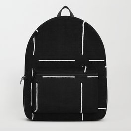 Block Print Simple Squares Backpack