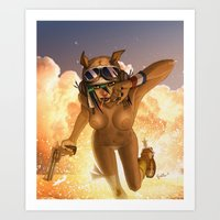 tank girl Art Prints featuring Tank by PeppebBox
