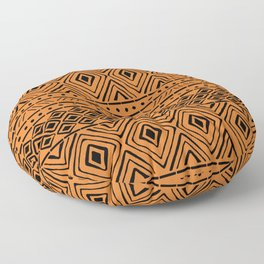 African Mud Cloth // Orange Floor Pillow