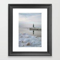 Winter in Holland, Michigan Framed Art Print
