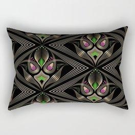 Art Deco 35 . Mystic . Rectangular Pillow
