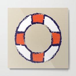 lifeguard buoy sand #nauticaldecor Metal Print
