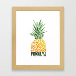Pineapple lovers 'Prickly Bitch' series Framed Art Print