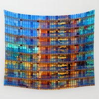 buildings Wall Tapestries featuring Buildings in Buildings by davehare