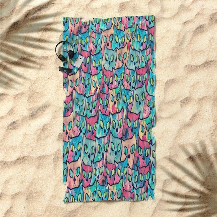 cat-71 Beach Towel