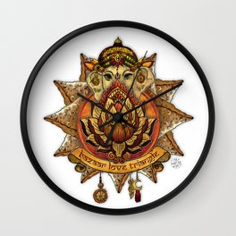 Keep Korma and Curry On Wall Clock