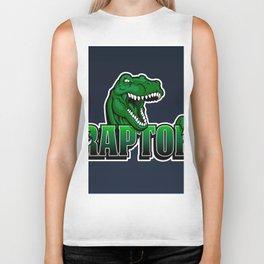 cartoon raptor Biker Tank