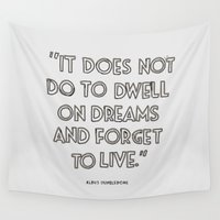 harry potter Wall Tapestries featuring Harry Potter Quote #3 by Marcela Caraballo