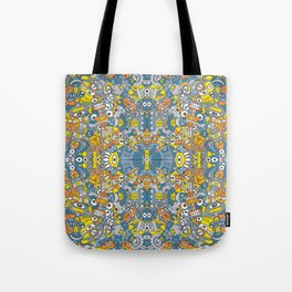 Retro robots are back and just want to have as much fun as possible Tote Bag