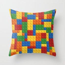 Lego bricks Throw Pillow