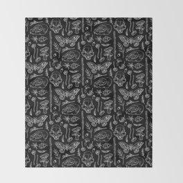 Witchcraft II [B&W] Throw Blanket
