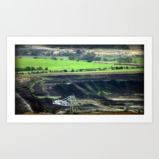 Black Coal ~ World's Contaminator  Art Print