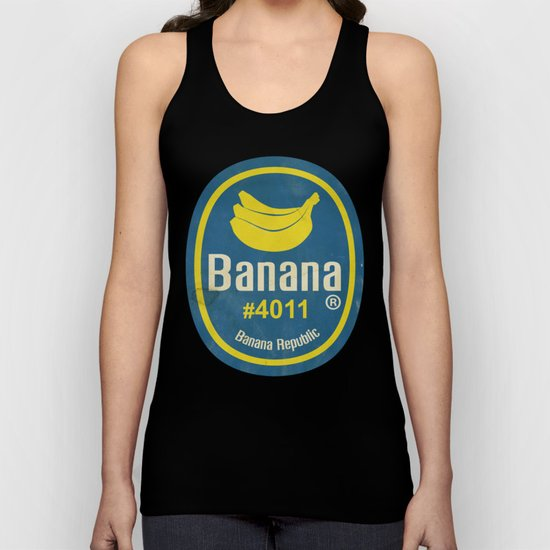 Banana Sticker On Yellow Unisex Tank Top