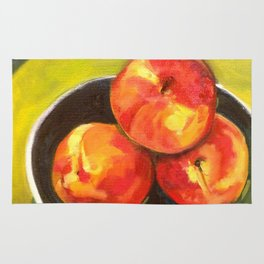 Three Peaches in a Bowl Rug