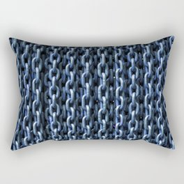 Teal Chains Rectangular Pillow
