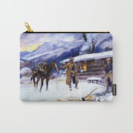 """Christmas Meat"" by Charles M Russell Carry-All Pouch"