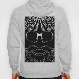 Crazy Hairy Man in Sun Glasses Hoody