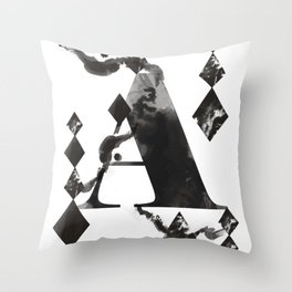 A alphabet Throw Pillow