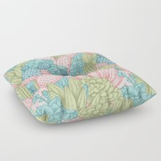 Pastel Cacti Obsession #society6 Floor Pillow
