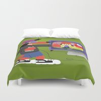 rap Duvet Covers featuring Rap Game by Lily's Factory