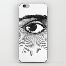 I See You. Black and White iPhone Skin