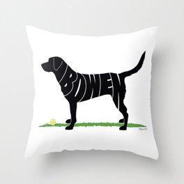 Black Lab named Bowen Throw Pillow