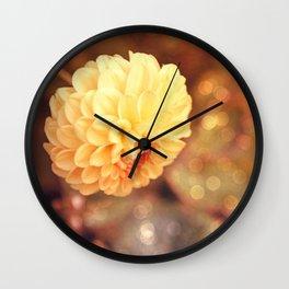 Autumn dahlia Wall Clock