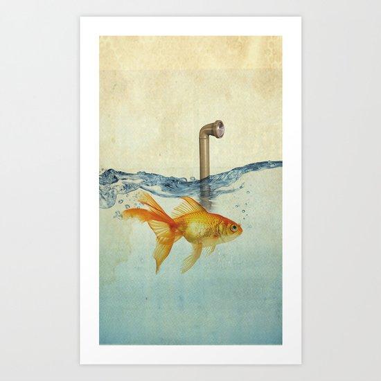 periscope goldfish Art Print