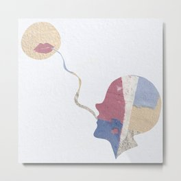 Sharing Secrets With the Moon Metal Print