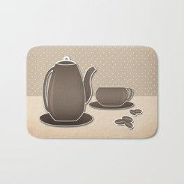 Picture .Coffee . Bath Mat