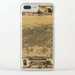 Aerial View of Stockton, California (1895) Clear iPhone Case