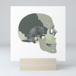 We are not the earth // Green Skull // Textured Skull // Beautiful Bones Mini Art Print