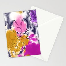Abstract Flowers - Watercolour Paiting Stationery Cards