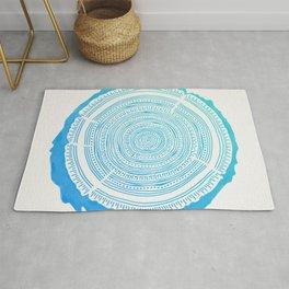 Douglas Fir – Blue Ombré Rug
