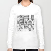 baking Long Sleeve T-shirts featuring Baking Cats by Ulrika Kestere