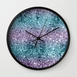 Mermaid Girls Glitter #8 #shiny #decor #art #society6 Wall Clock