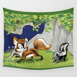 Spunky Little Skunk Wall Tapestry